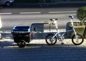 Window Cleaner Bicycle and Trailer