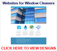 Window cleaning website designs